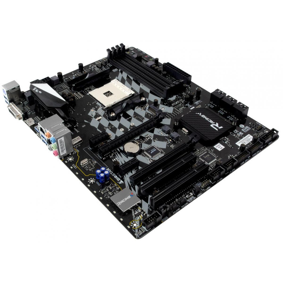 Placa Mãe Biostar Racing X370GT5, Chipset X370, AMD AM4, ATX, DDR4