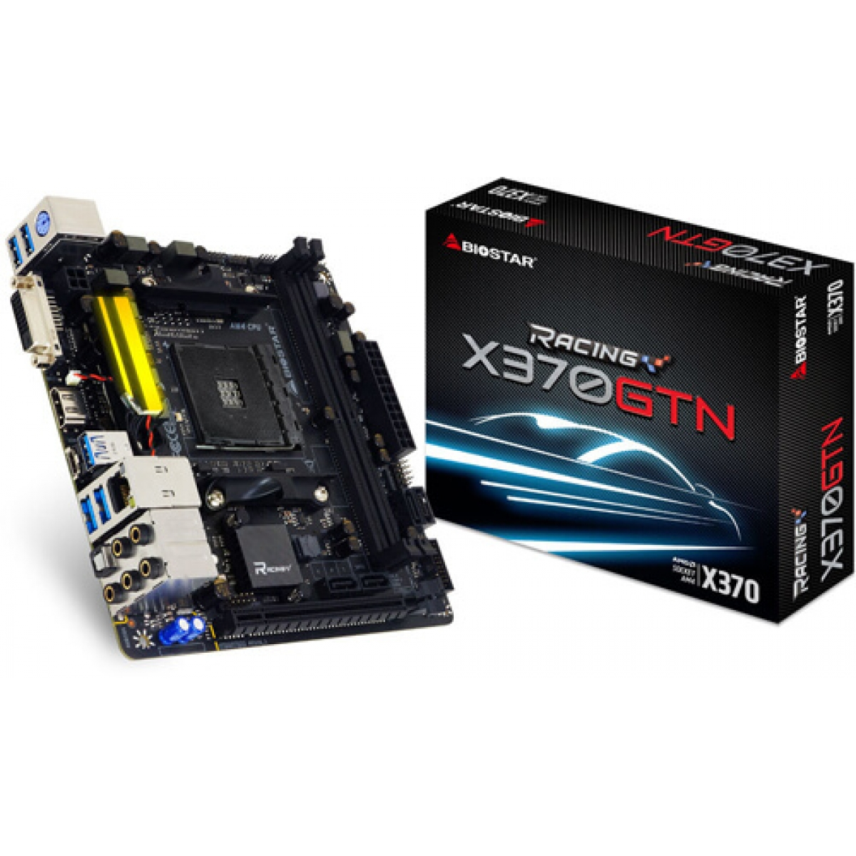 Placa Mãe Biostar Racing X370GTN, Chipset X370, AMD AM4, mITX, DDR4