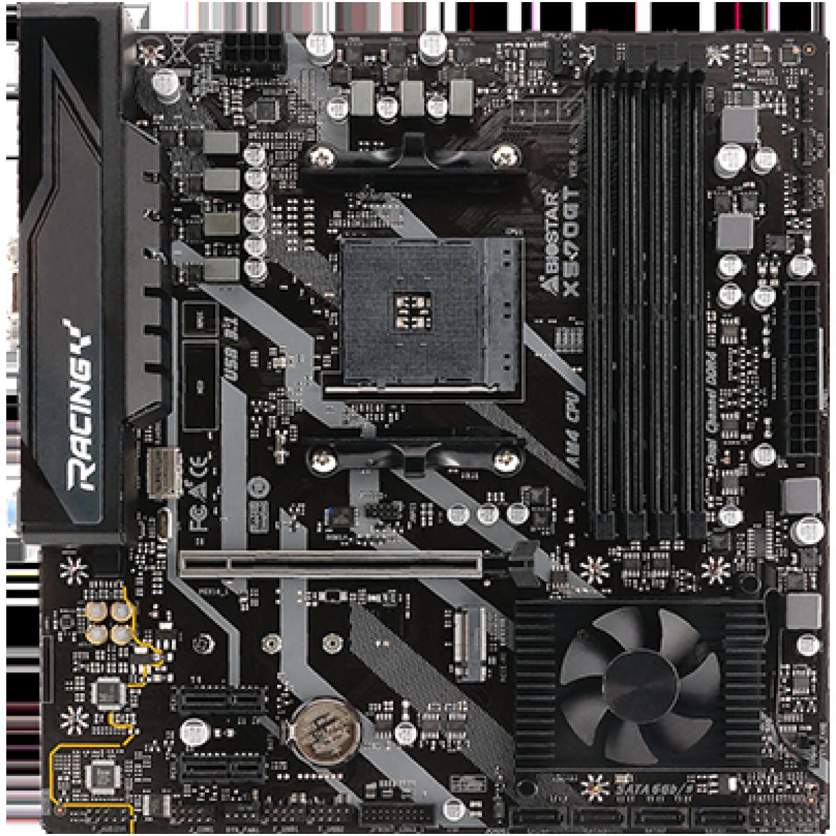 Placa Mãe Biostar Racing X570GT, Chipset X570, AMD AM4, MATX, DDR4