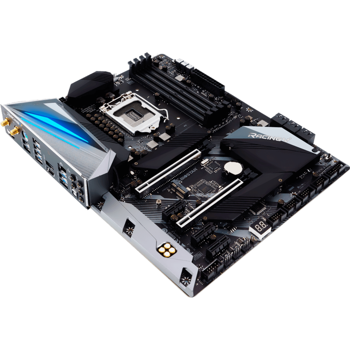 Placa Mãe Biostar Racing Z490GTA EVO, Chipset Z490, Intel 1200, ATX, DDR4