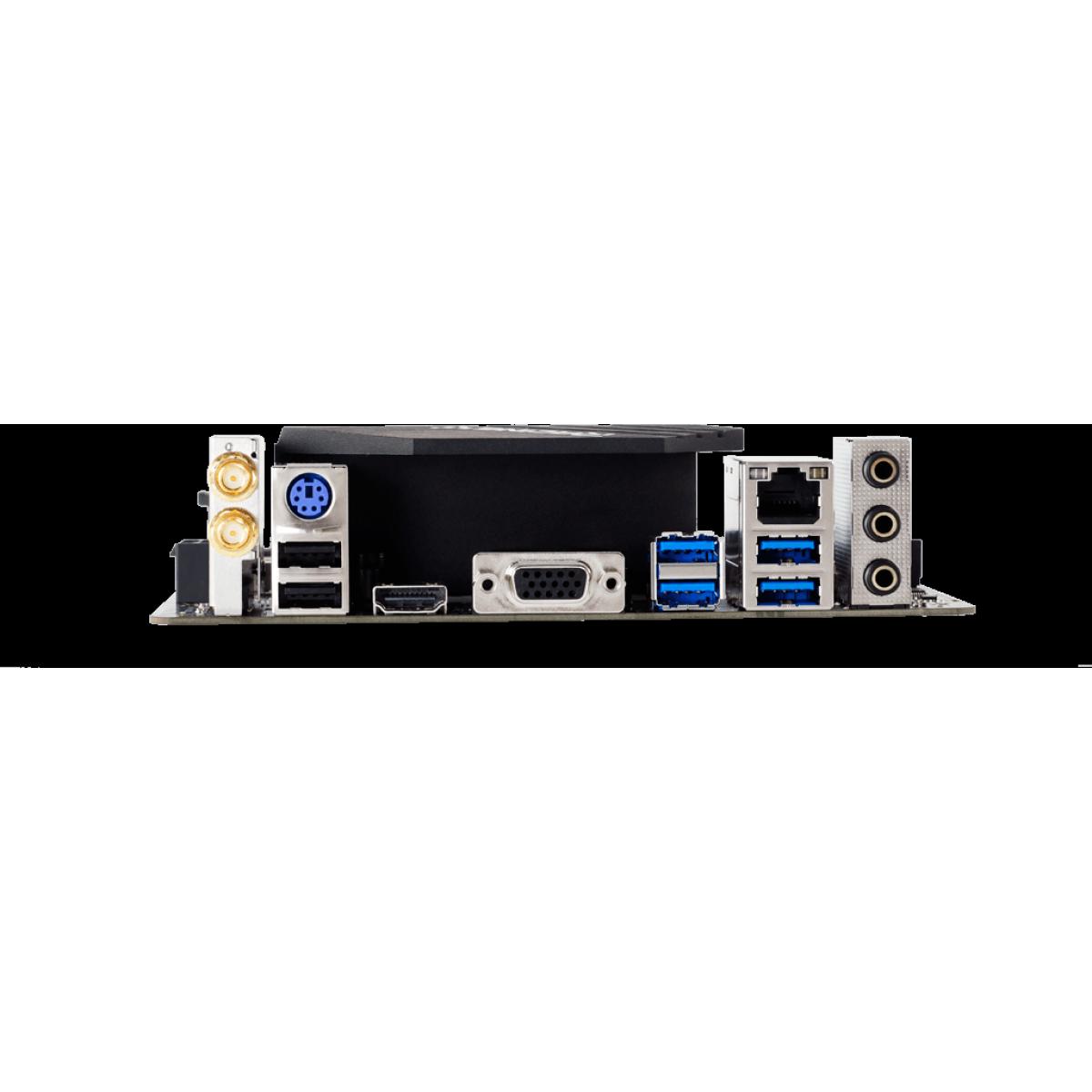 Placa Mãe Biostar Racing Z490GTN, Chipset Z490, Intel 1200, Mini-ITX, DDR4