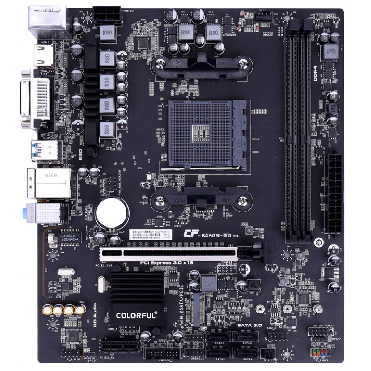 Placa Mãe Colorful Battle-AX B450M-HD V14, Chipset B450, AMD AM4, mATX, DDR4
