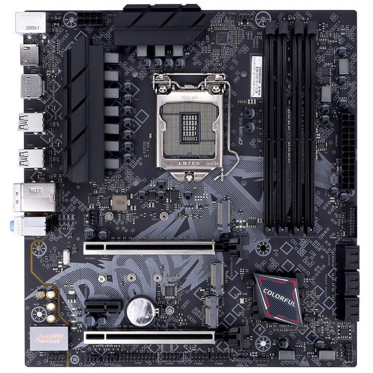 Placa Mãe Colorful BATTLE-AX Z490M-PLUS V20, Chipset Z490, Intel LGA 1200, mAXT, DDR4, 110001206701