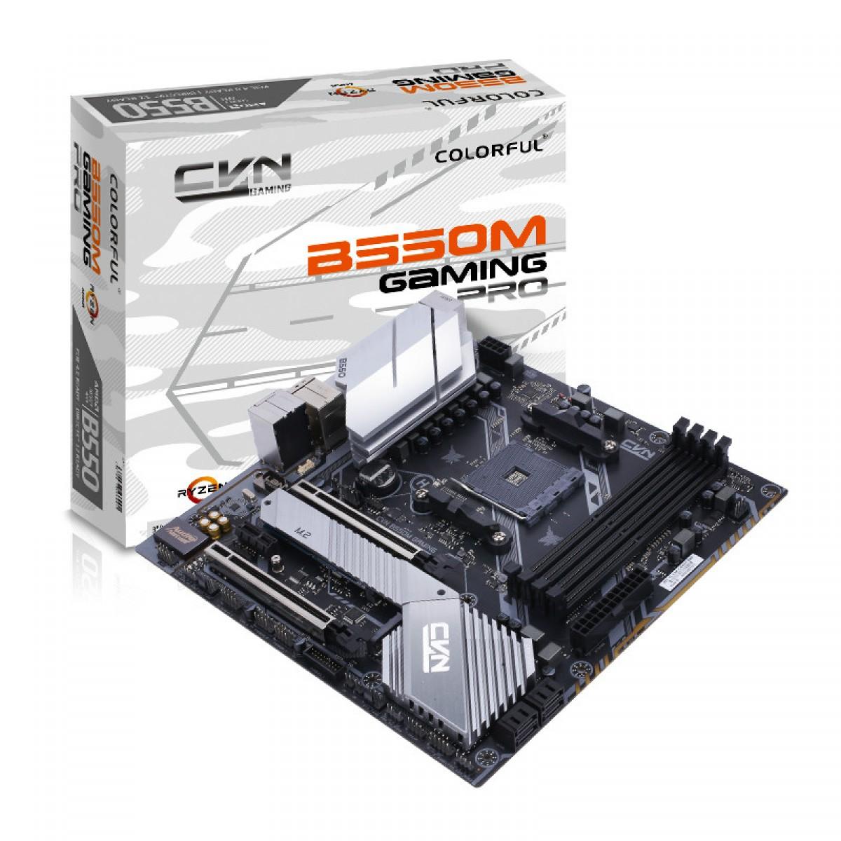 Placa Mãe Colorful CVN B550M GAMING PRO V14, Chipset B550, AMD AM4, mAXT, DDR4