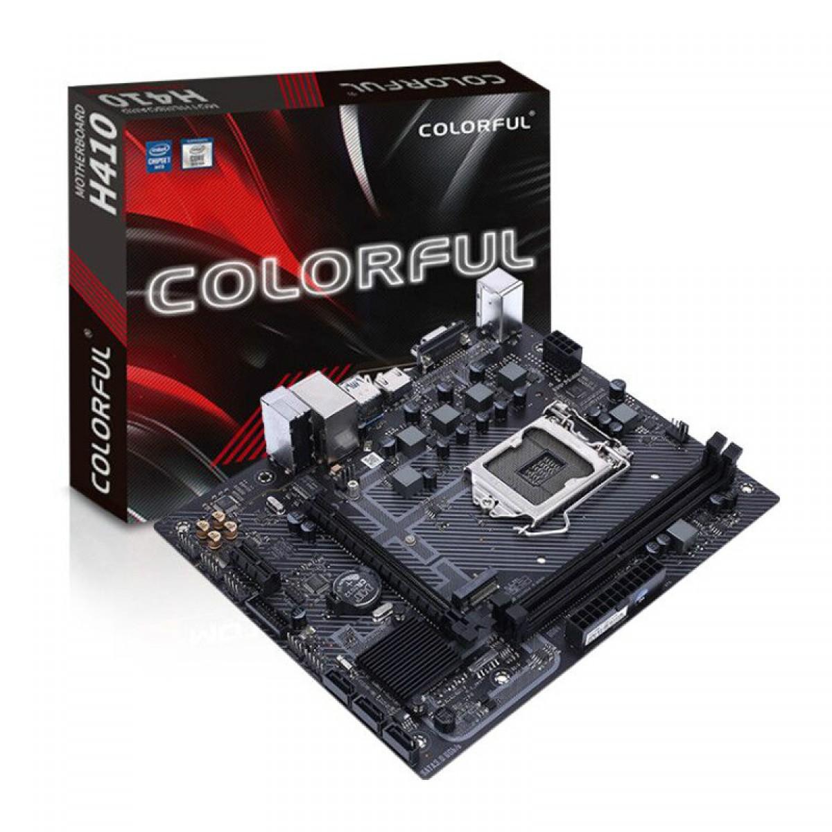 Placa Mãe Colorful H410M-T PRO V20, Chipset H410, Intel LGA 1200, mATX, DDR4