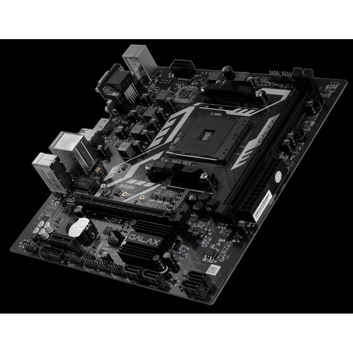 Placa Mãe Galax B450M, Chipset B450, AMD AM4, mATX, DDR4, AB450MAGCHJ1CW