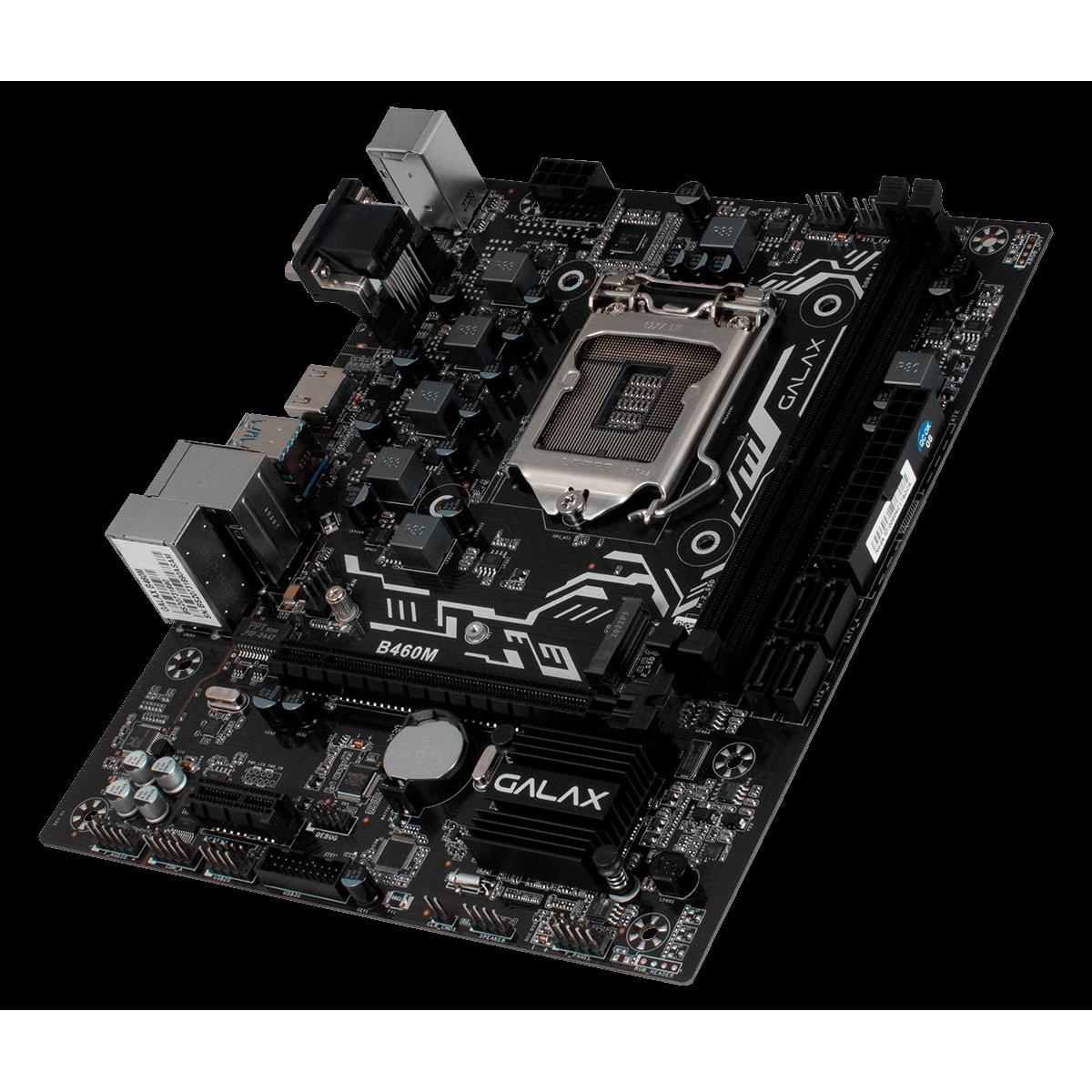 Placa Mãe GALAX B460M, Chipset B460, Intel LGA 1200, mATX, IB460MAGBAY1CW