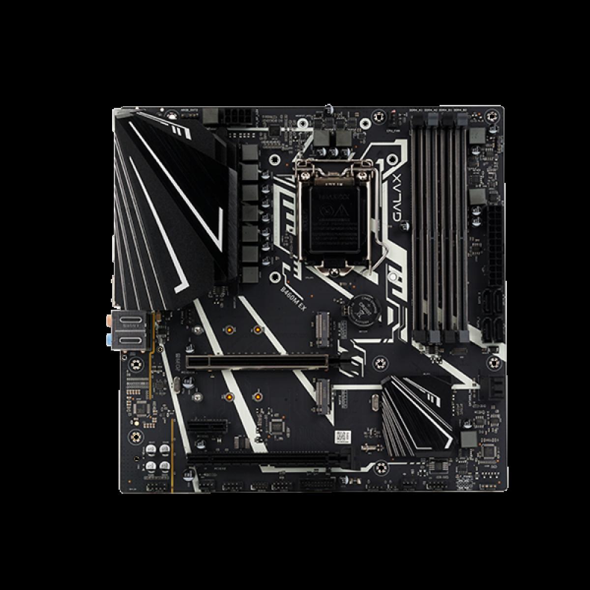 Placa Mãe Galax B460M EX, Chipset B460, Intel LGA 1200, mATX, DDR4, IB460MBGDEX1BW