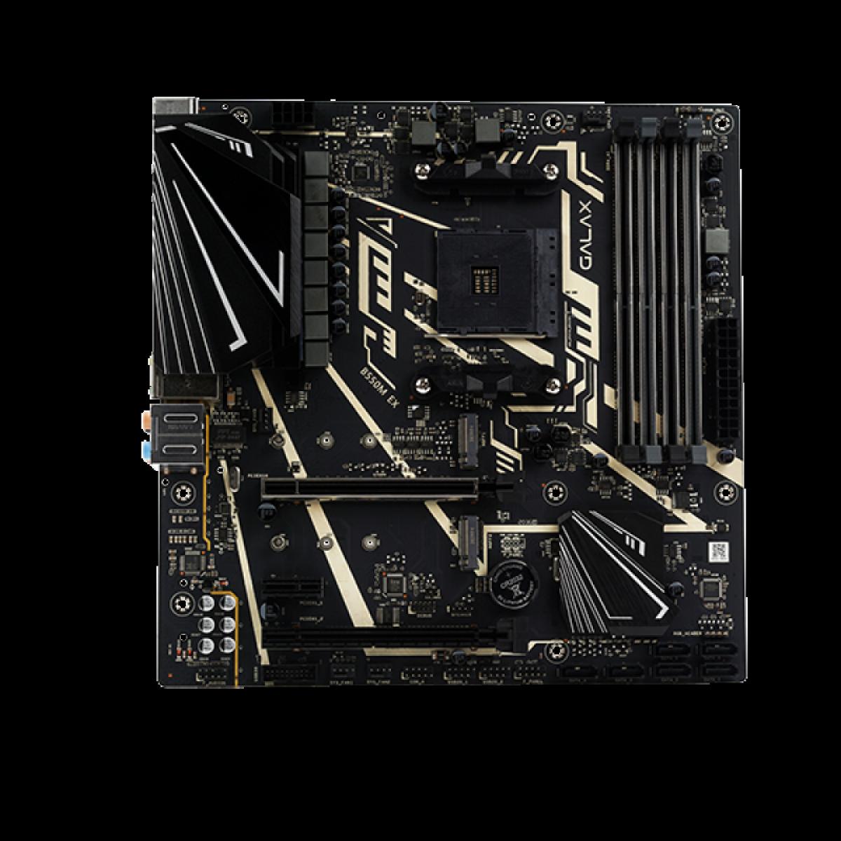 Placa Mãe Galax B550M EX, Chipset B550, AMD AM4, mATX, DDR4, AB550MBGDEX1BW