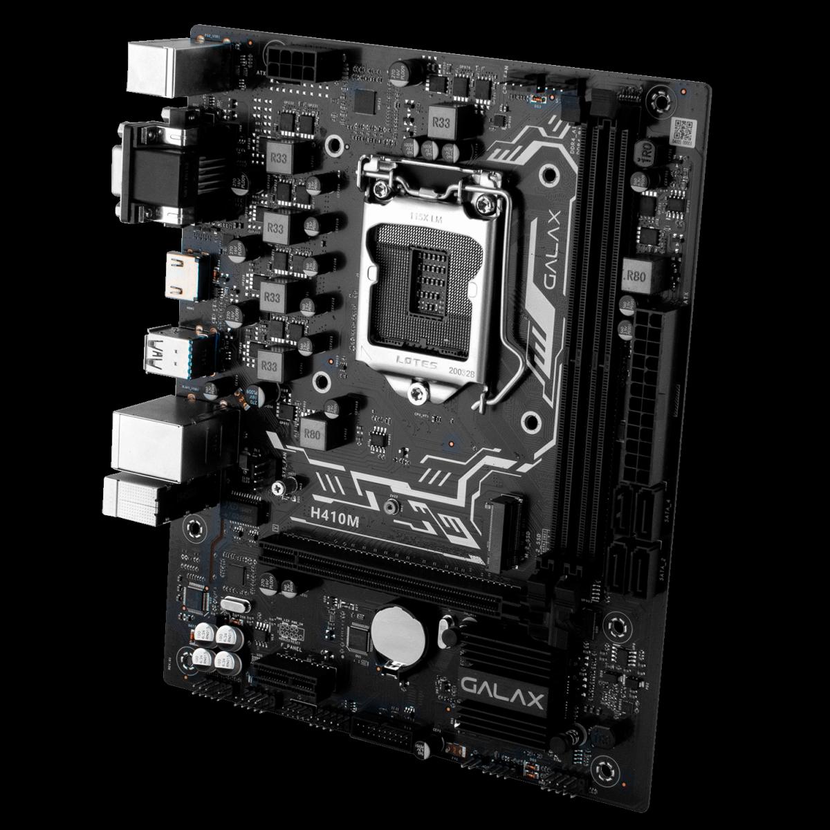 Placa Mãe GALAX H410M, Chipset H410, Intel LGA 1200, mATX, IH410MAGCHY1CW