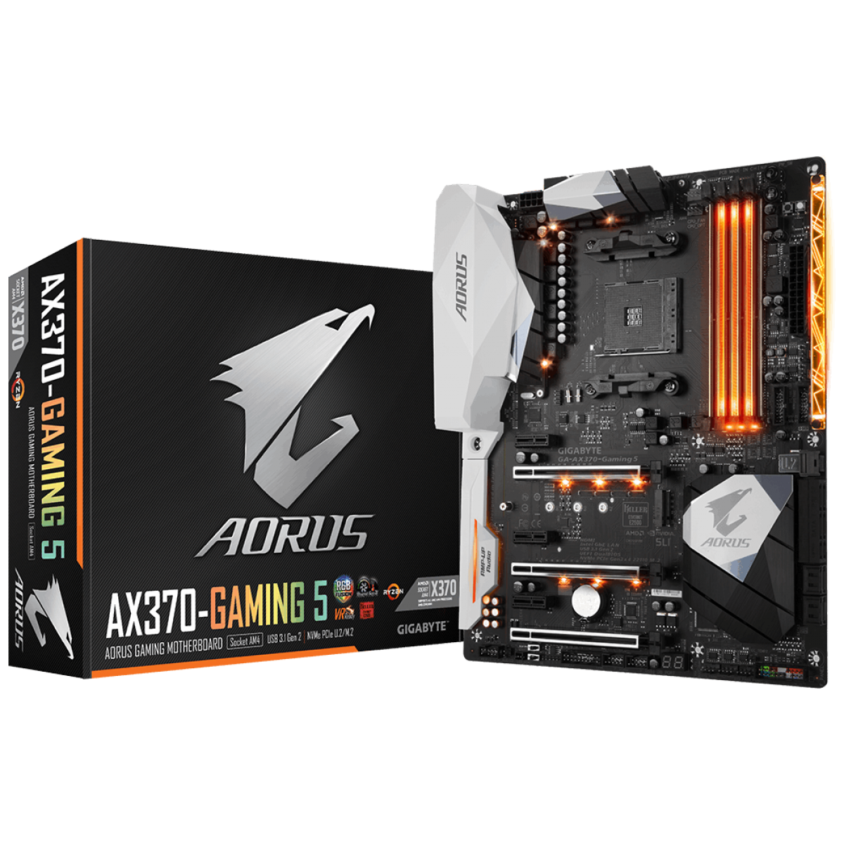 Placa Mãe Gigabyte AORUS GA-AX370-GAMING 5, Chipset X370, AMD AM4, ATX, DDR4