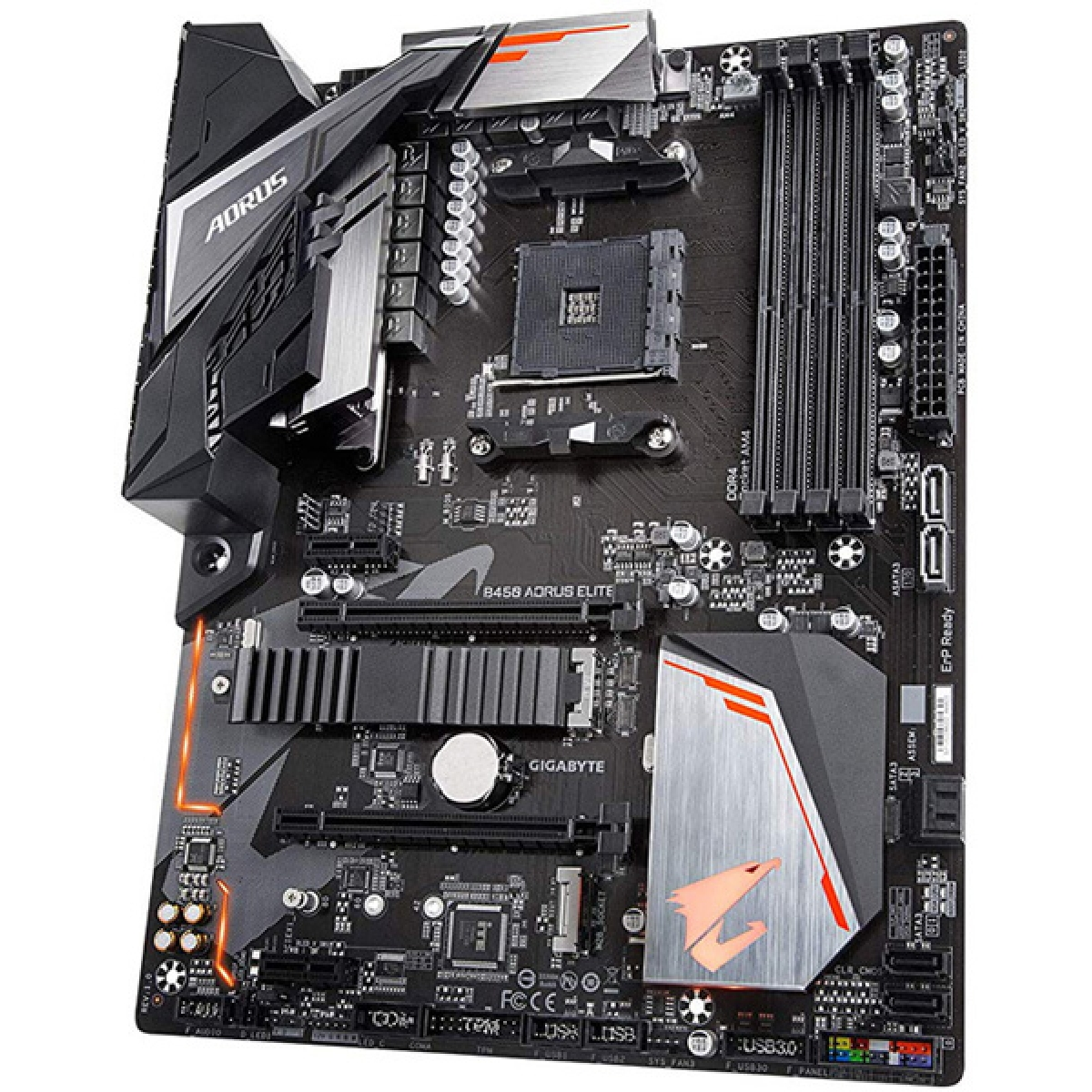 Placa Mãe Gigabyte B450 Aorus Elite, Chipset B450, AMD AM4, ATX, DDR4