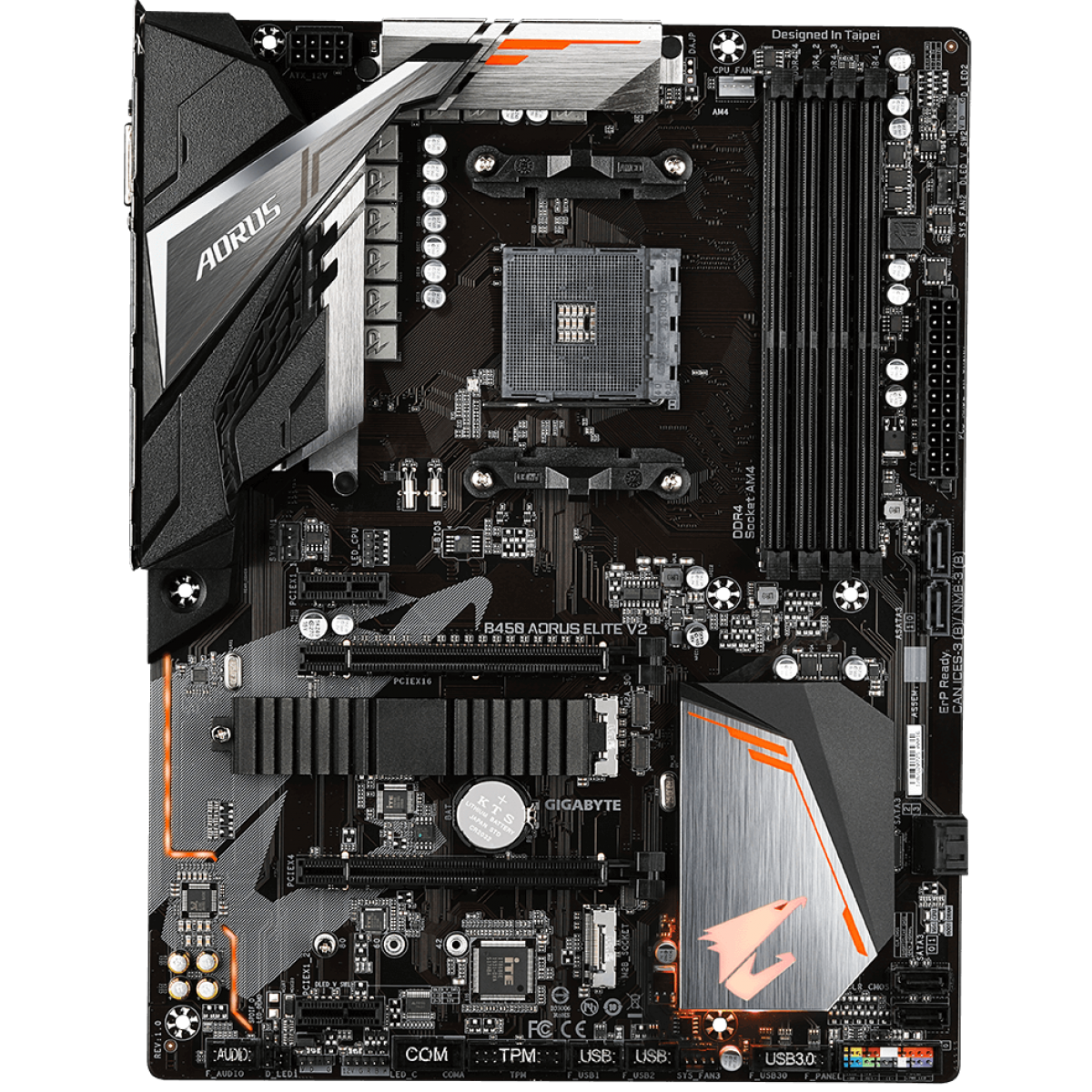 Placa Mãe Gigabyte B450 Aorus Elite V2, Chipset B450, AMD AM4, ATX, DDR4, 9MB45AET2-00-10