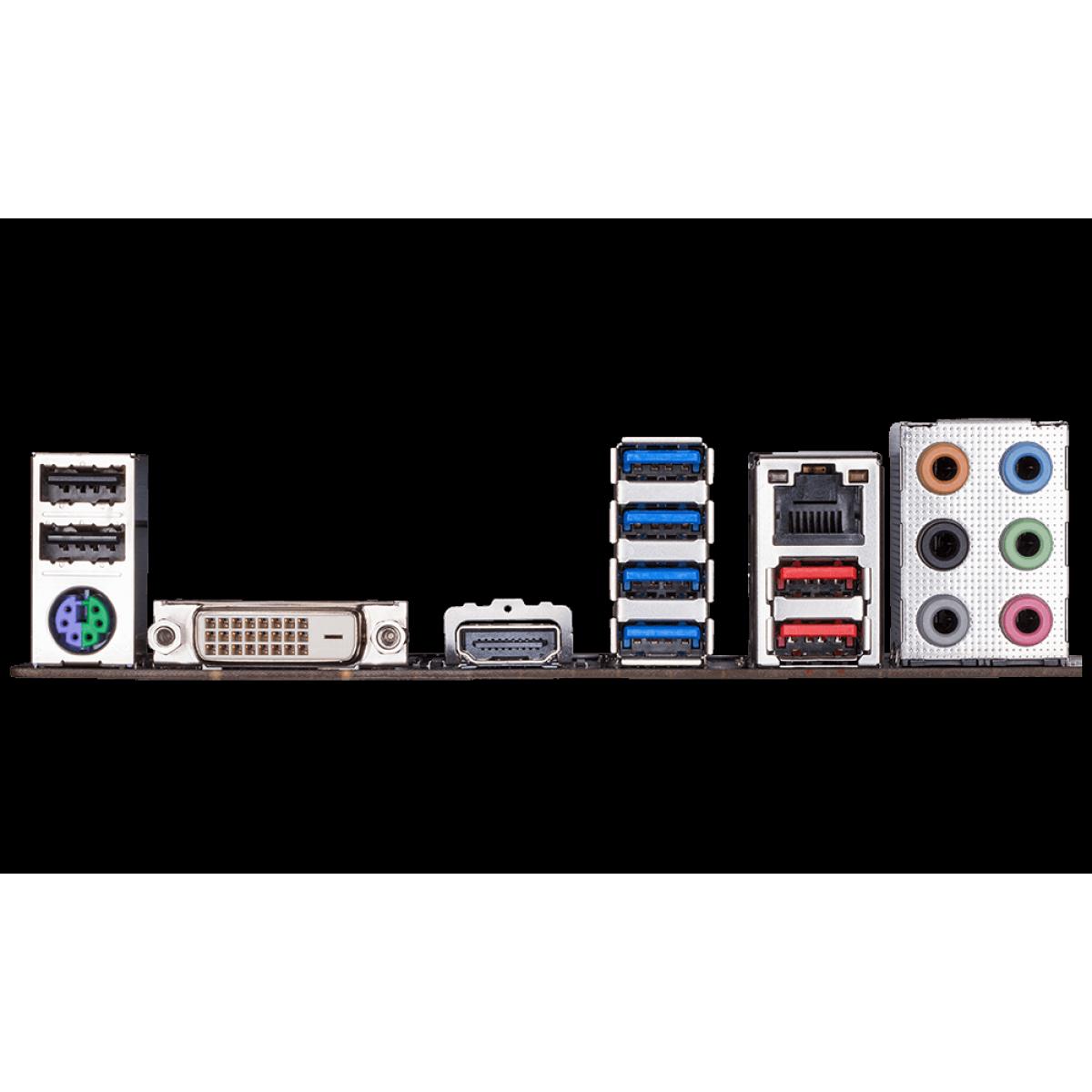 Placa Mãe Gigabyte B450M AORUS ELITE, Chipset B450, AMD AM4, mATX, DDR4