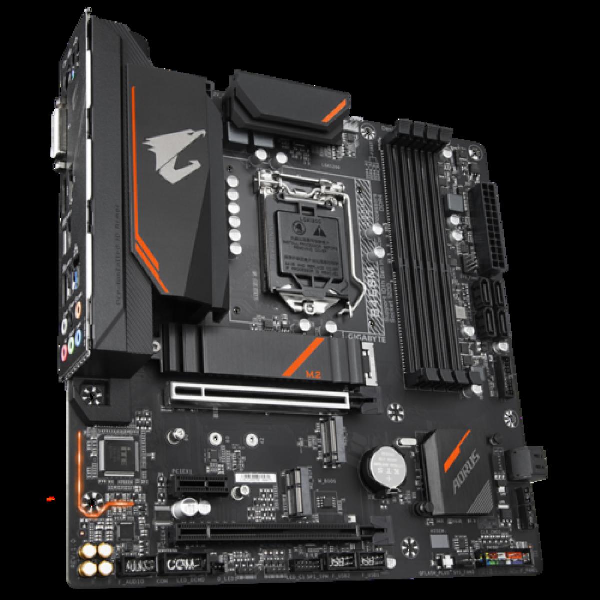 Placa Mãe Gigabyte B460M AORUS PRO, Chipset B460, Intel LGA 1200, mATX, DDR4