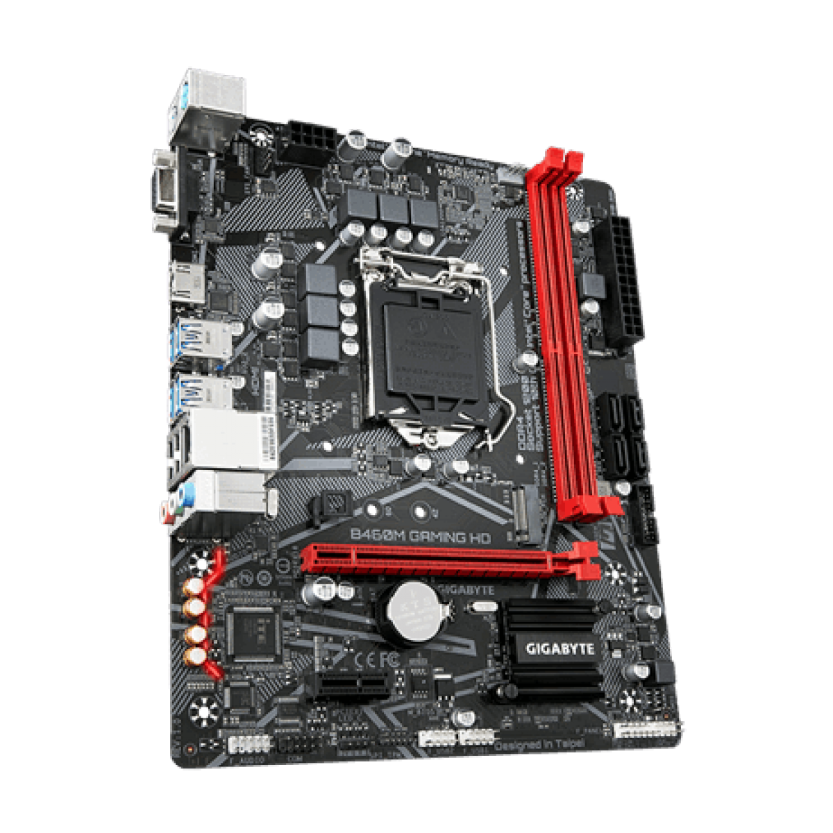 Placa Mãe Gigabyte B460M Gaming HD , Chipset B460, Intel LGA 1200, mATX, DDR4