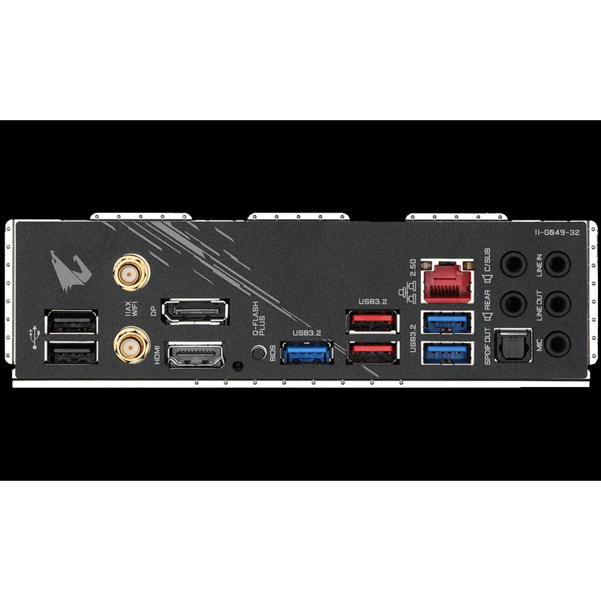 Placa Mãe Gigabyte B550 AORUS Elite AX V2, Chipset B550, AMD AM4, ATX, DDR4, 9MB55AEW2-00-10