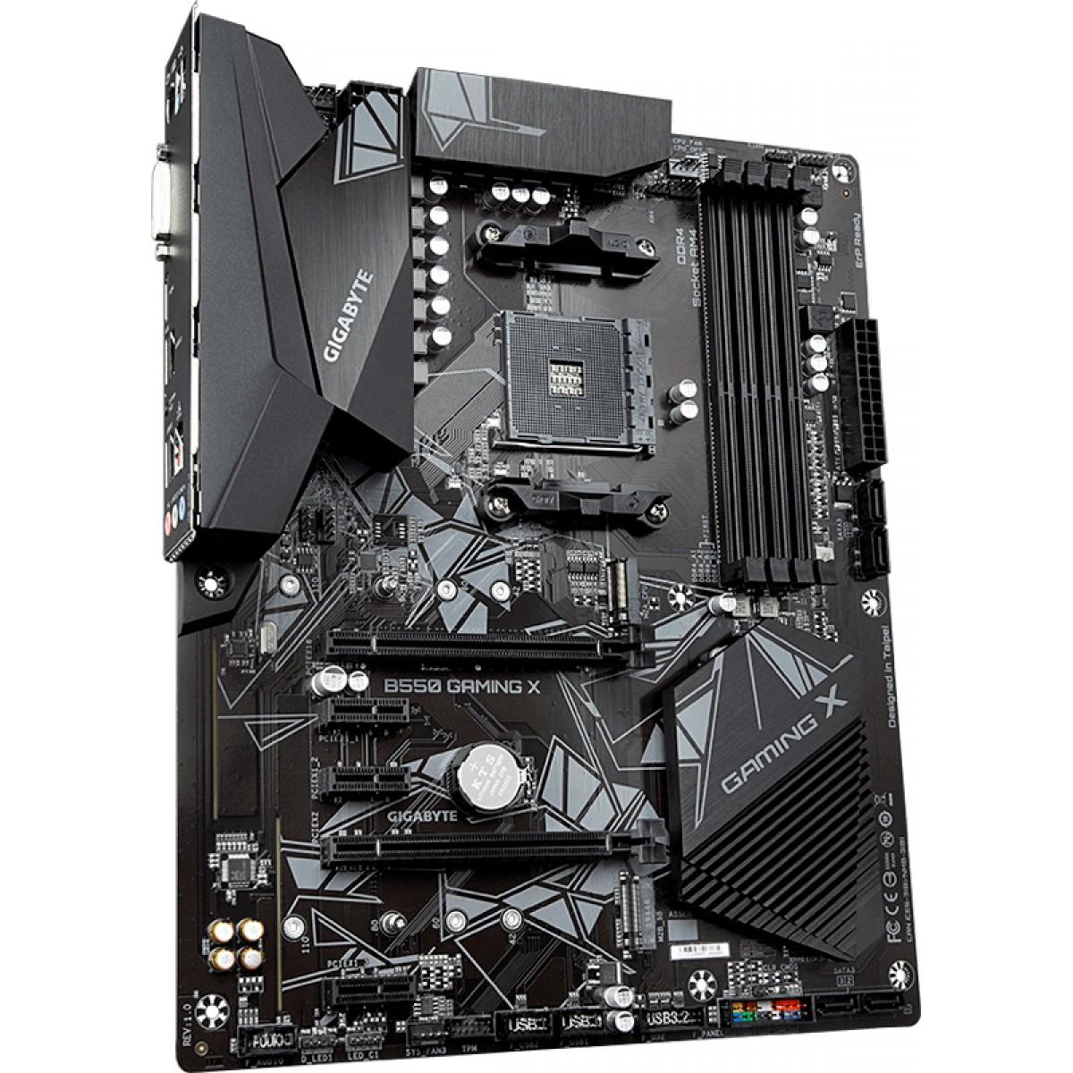 Placa Mãe Gigabyte B550 Gaming X, Chipset B550, AMD AM4, ATX, DDR4