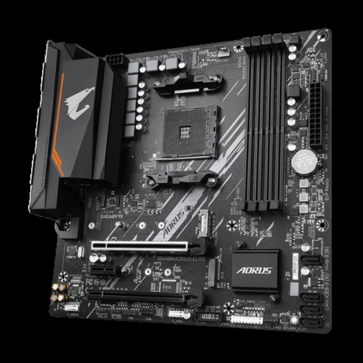 Placa Mãe Gigabyte B550M AORUS Elite, Chipset B550, AMD AM4, mATX, DDR4