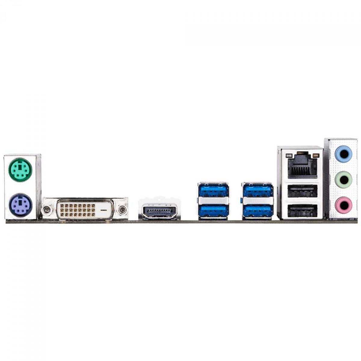 Placa Mãe Gigabyte GA-A320M-H, Chipset A320, AMD AM4, mATX, DDR4