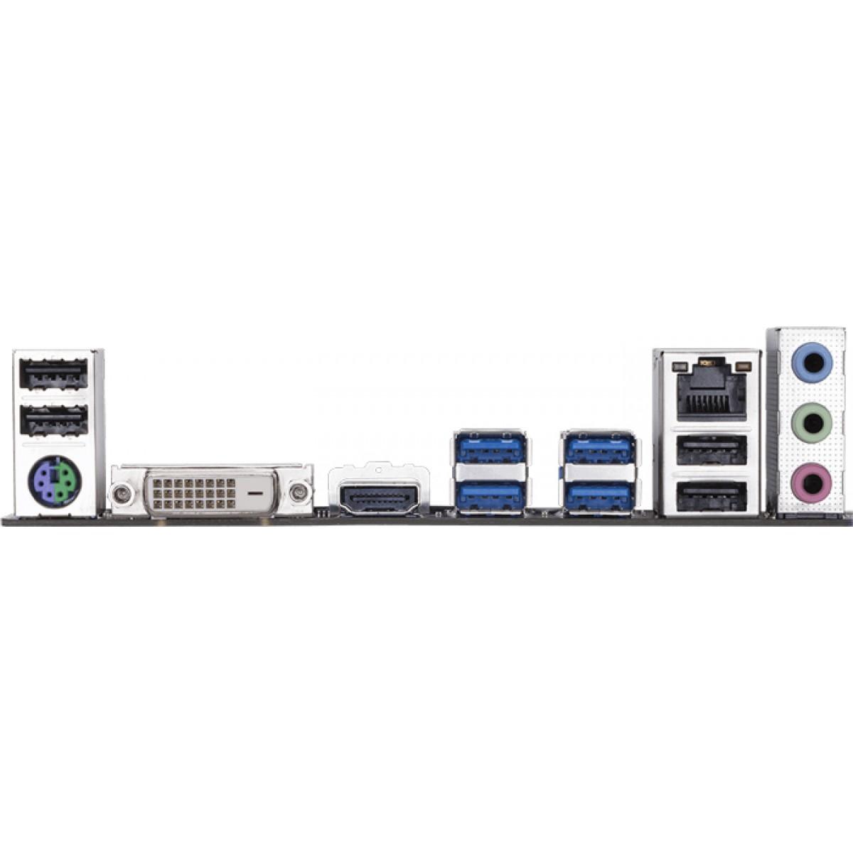 Placa Mãe Gigabyte GA-AB350M-DS3H, Chipset B350, AMD AM4, mATX, DDR4