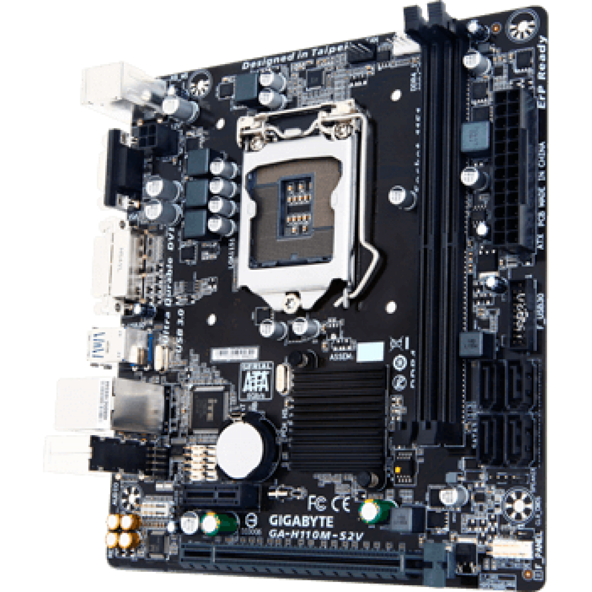 Placa Mãe Gigabyte GA-H110M-S2V, Chipset H110, Intel LGA 1151, mATX, DDR4