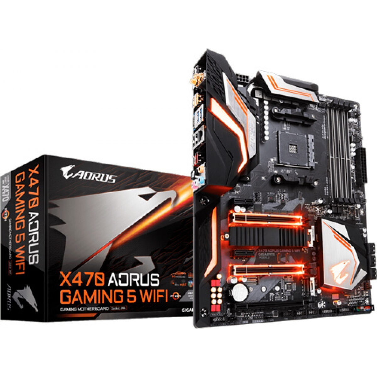 Placa Mãe Gigabyte X470 AORUS Gaming 5 WIFI, Chipset X470, AMD AM4, ATX, DDR4
