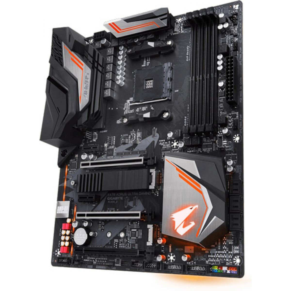 Placa Mãe Gigabyte X470 Aorus Ultra Gaming, Chipset X470, AMD AM4, ATX, DDR4