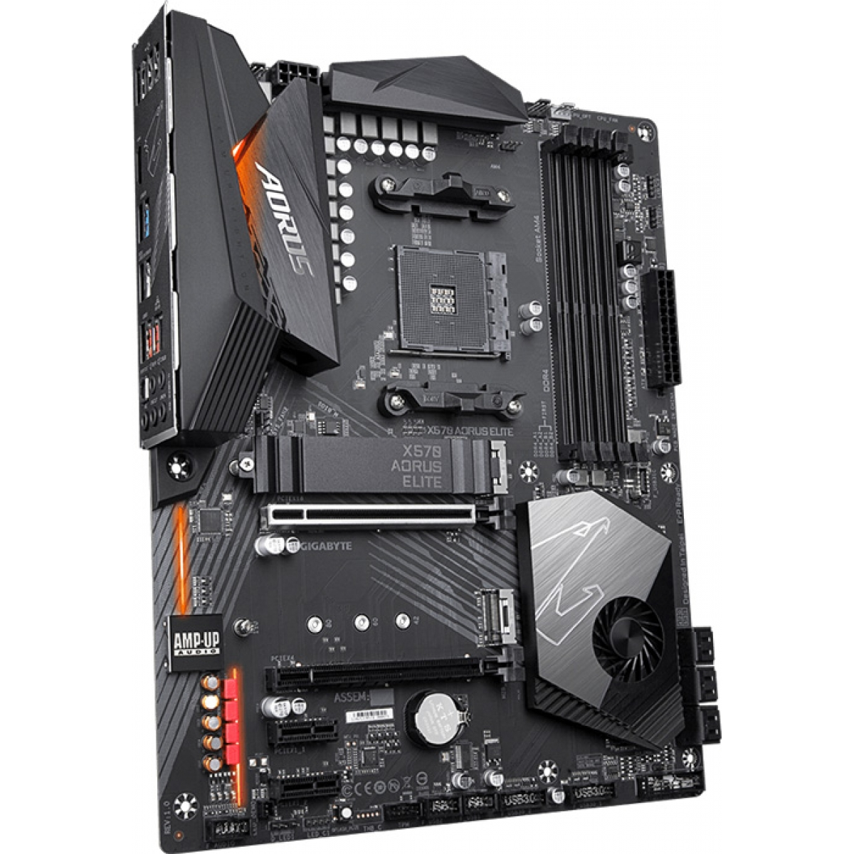 Placa Mãe Gigabyte X570 Aorus Elite, Chipset X570, AMD AM4, ATX, DDR4