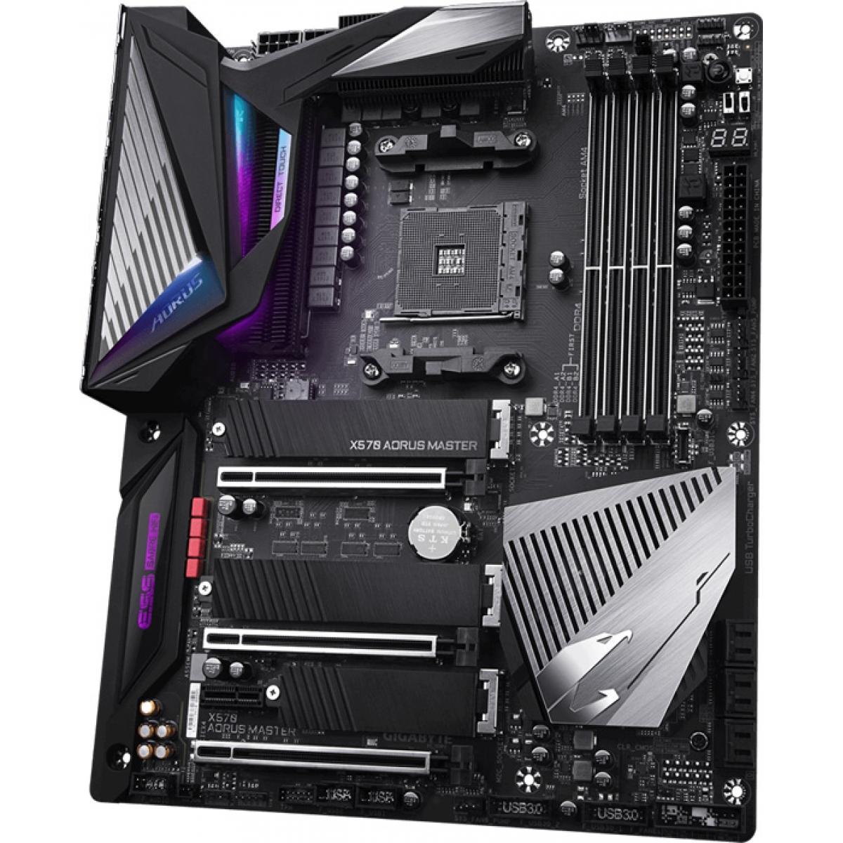 Placa Mãe Gigabyte X570 Aorus Master, Chipset X570, AMD AM4, ATX, DDR4