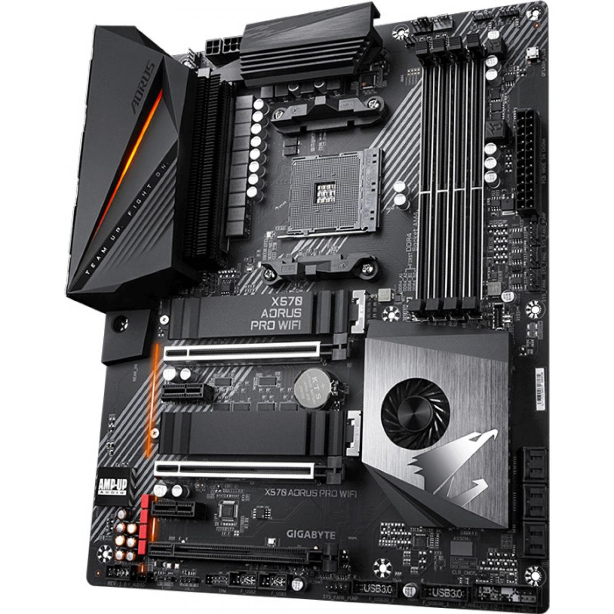 Placa Mãe Gigabyte, X570 Aorus Pro Wifi, Chipset X570, AMD AM4, ATX, DDR4, Rev. 1.1/1.2