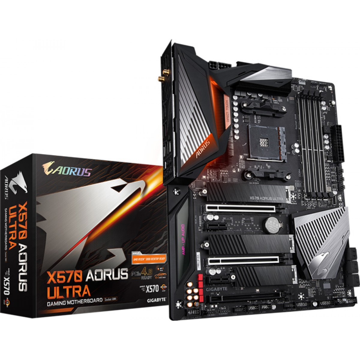 Placa Mãe Gigabyte X570 Aorus Ultra Wifi, Chipset X570, AMD AM4, ATX, DDR4