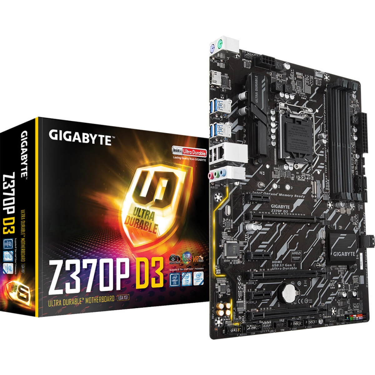 Placa Mãe Gigabyte Z370P D3, Chipset Z370, Intel LGA 1151, ATX, DDR4