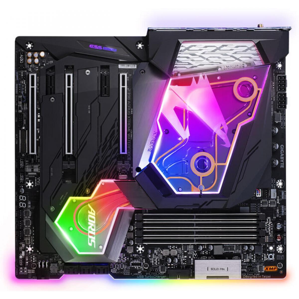 Placa Mãe Gigabyte Z390 Aorus Xtreme Waterforce, Chipset Z390, Intel LGA 1151, E-ATX, DDR4