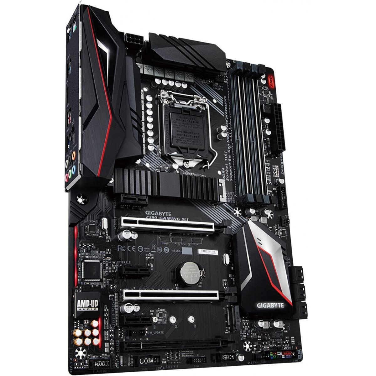 Placa Mãe Gigabyte Z390 GAMING SLI, Chipset Z390, Intel LGA 1151, ATX, DDR4