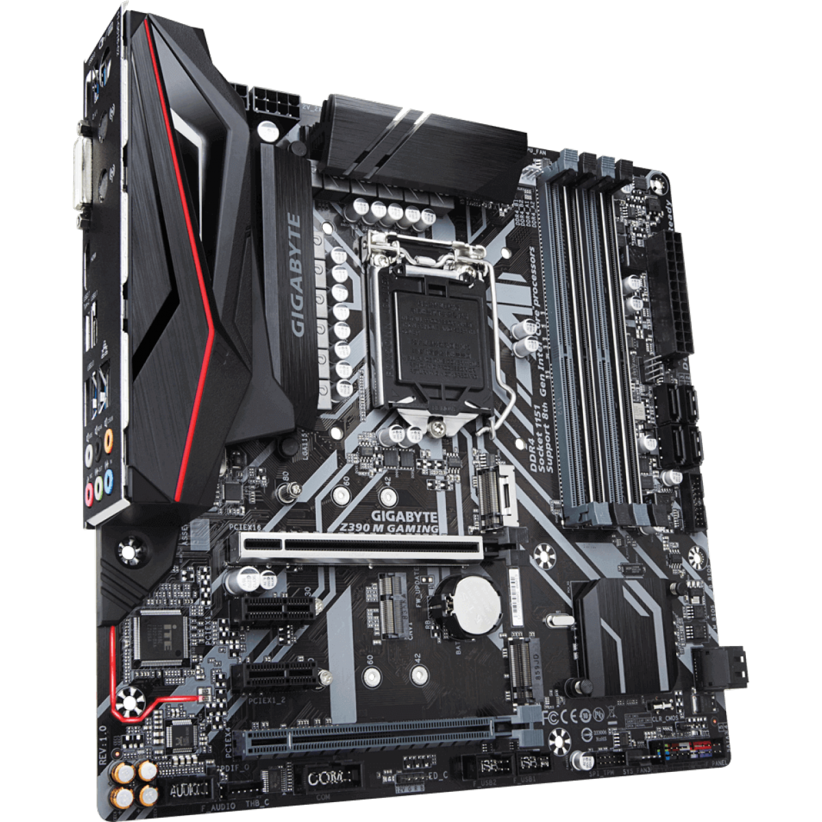 Placa Mãe Gigabyte Z390 M GAMING, Chipset Z390, Intel LGA 1151, mATX, DDR4 - Open box