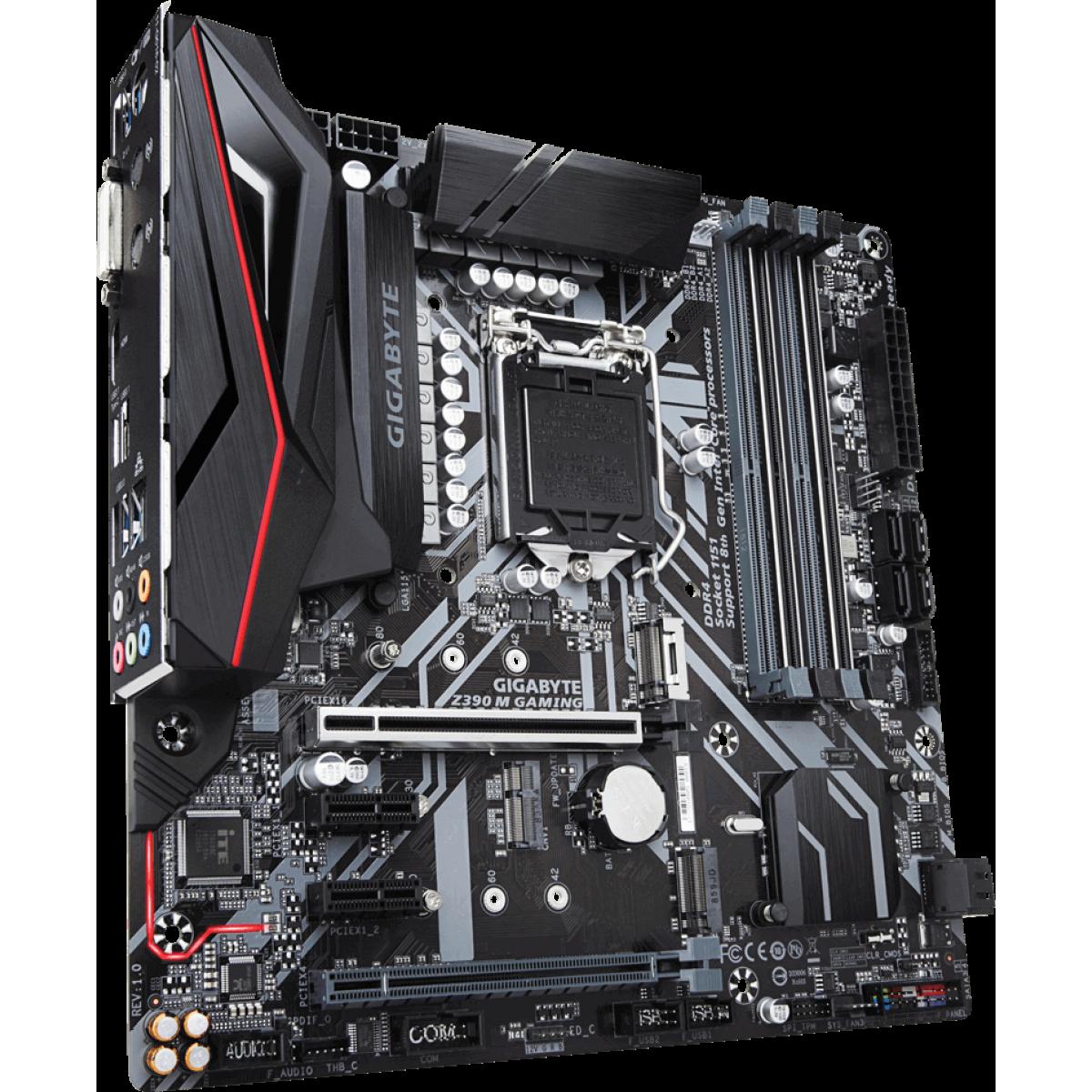 Placa Mãe Gigabyte Z390 M GAMING, Chipset Z390, Intel LGA 1151, mATX, DDR4