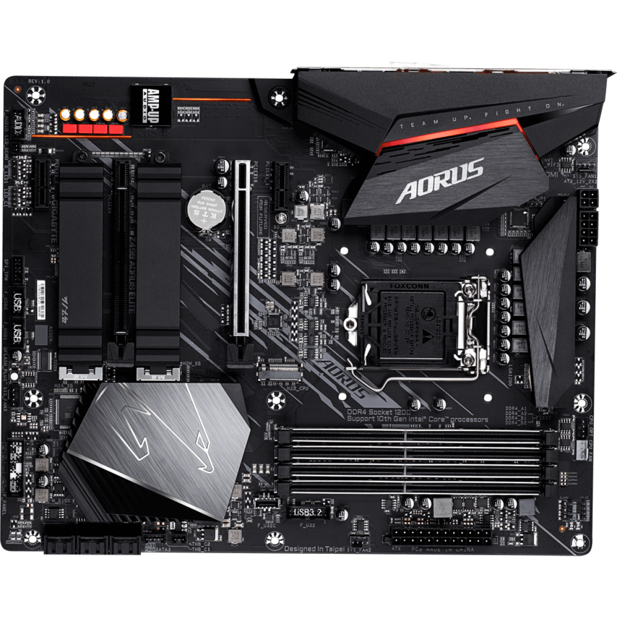 Placa Mãe Gigabyte Z490 Aorus Elite, Chipset Z490, Intel LGA 1200, ATX, DDR4
