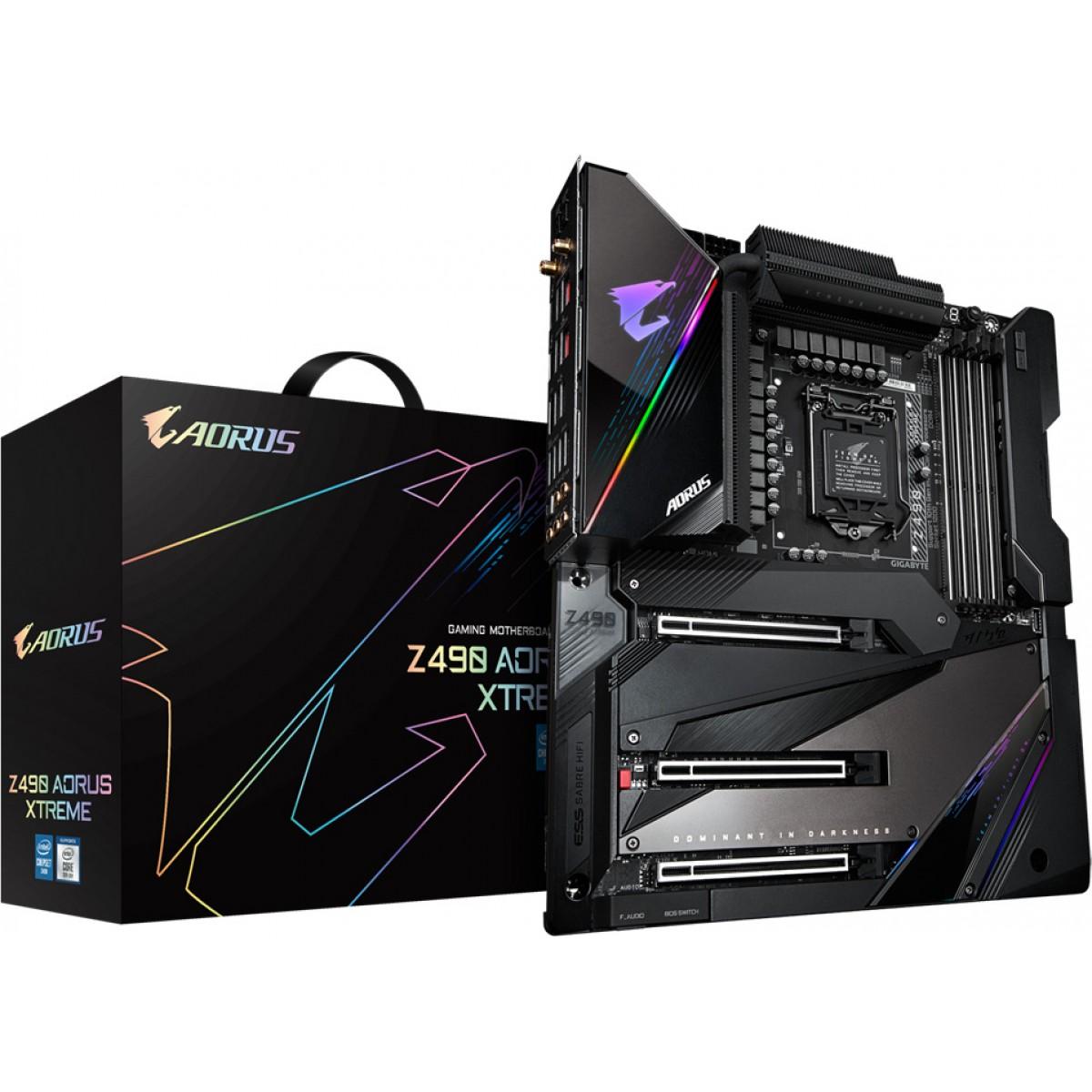 Placa Mãe Gigabyte Z490 Aorus Xtreme, Chipset Z490, Intel LGA 1200, Wi-Fi, E-ATX, DDR4