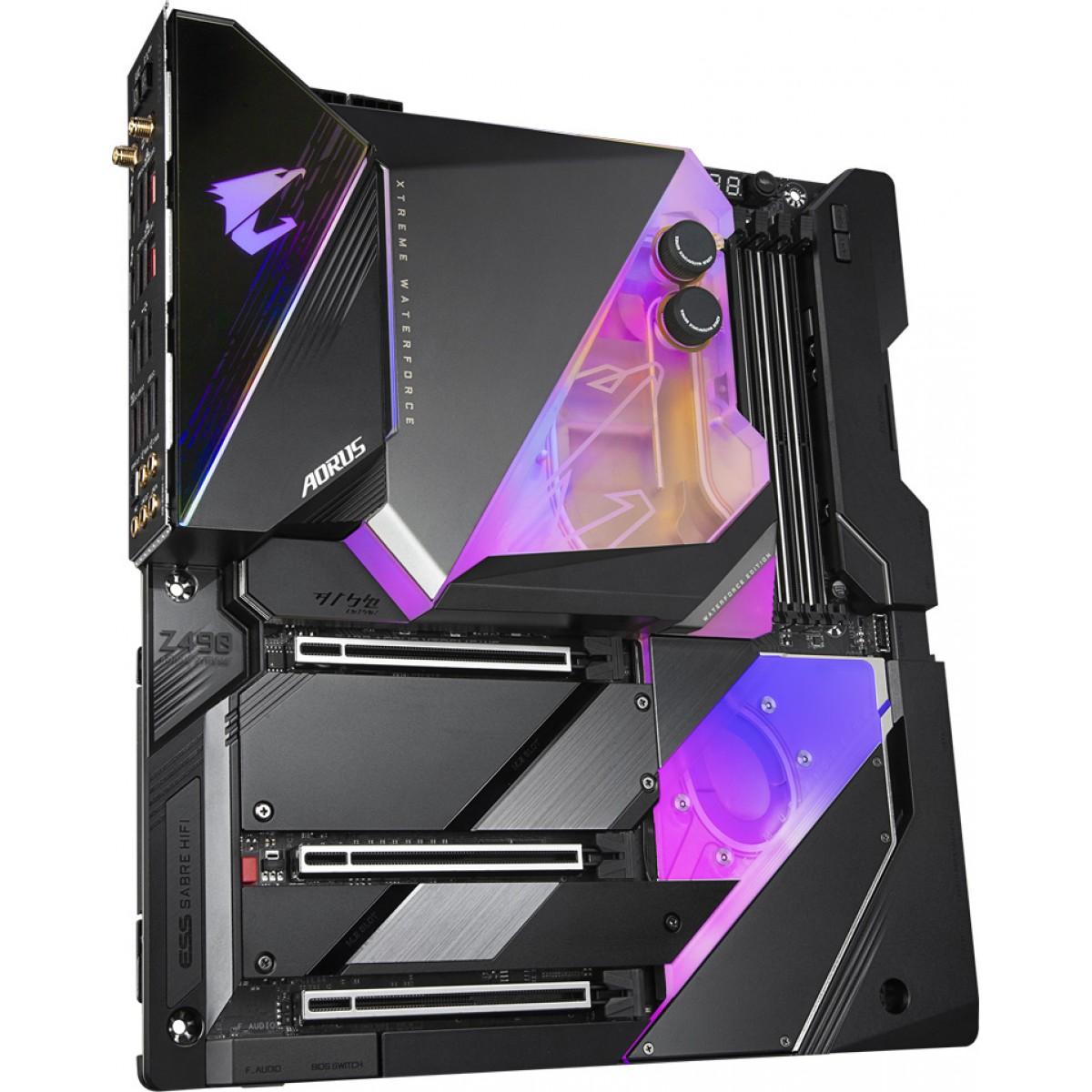 Placa Mãe Gigabyte Z490 Aorus Xtreme Waterforce, Chipset Z490, Intel LGA 1200, Wi-Fi, E-ATX, DDR4