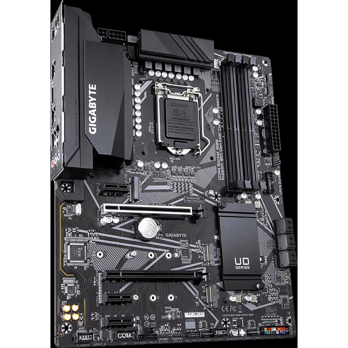 Placa Mãe Gigabyte Z490 UD, Chipset Z490, Intel LGA 1200, ATX, DDR4