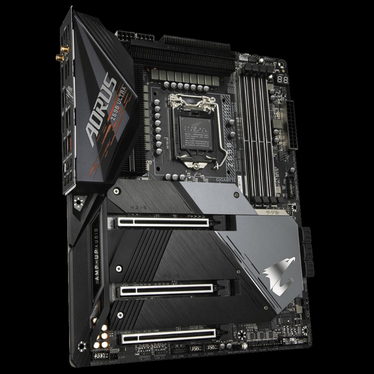 Placa Mãe Gigabyte Z590 AORUS ULTRA, Wi-Fi, Chipset Z590, Intel LGA 1200, ATX, DDR4