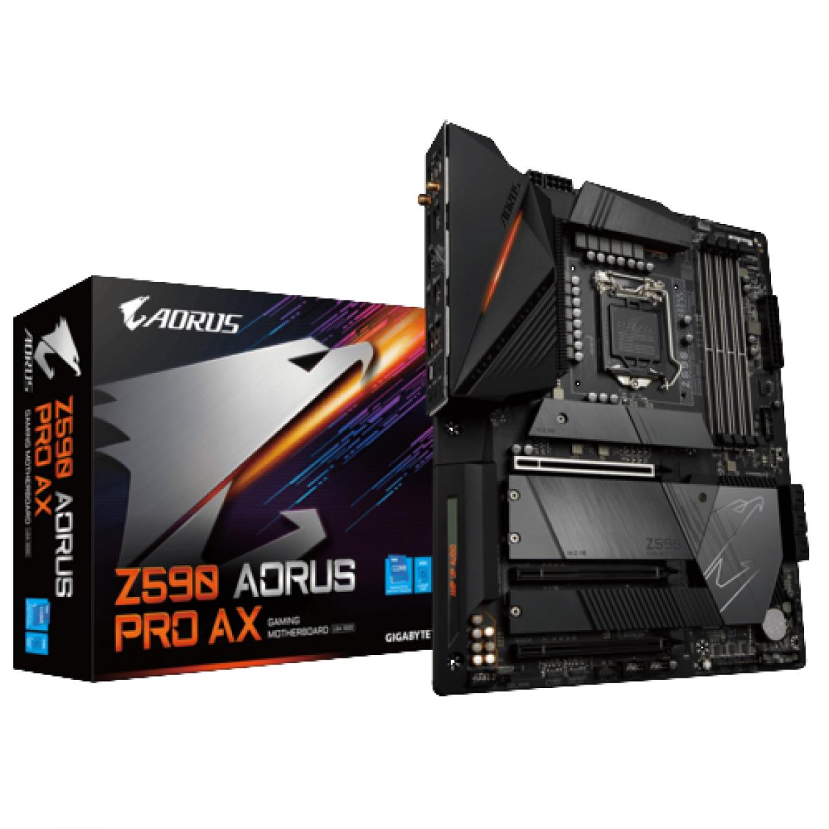 Placa Mãe GIGABYTE Z590 AORUS ULTRA (rev. 1.0), Chipset Z590 Express, Intel Socket 1200, ATX, DDR4