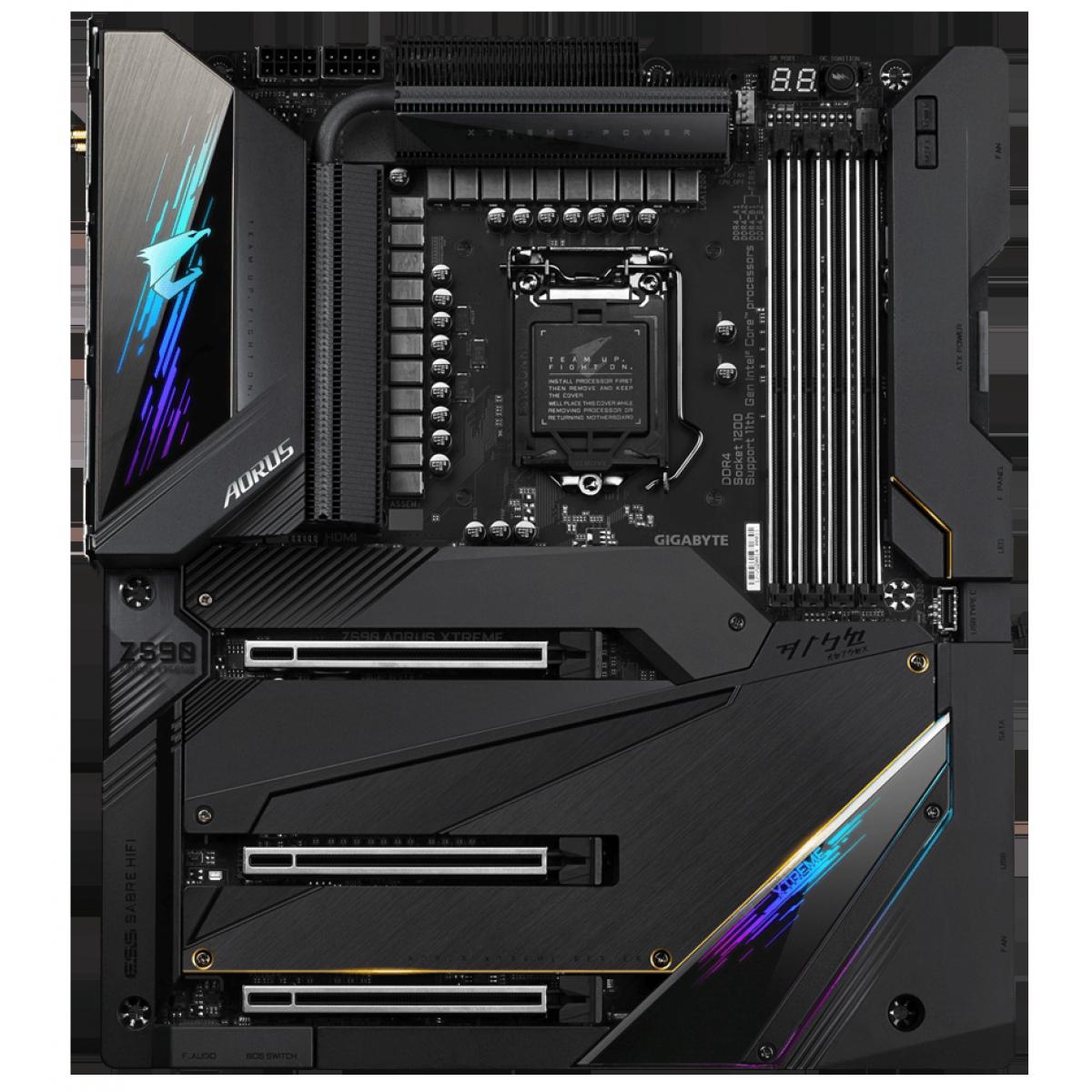 Placa Mãe Gigabyte Z590 AORUS XTREME, Wi-Fi, Chipset Z590, Intel LGA 1200, E-ATX, DDR4