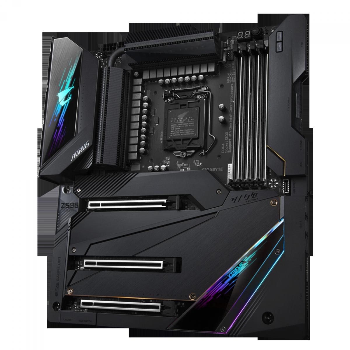 Placa Mãe GIGABYTE Z590 AORUS XTREME, Intel Z590 Express Chipset, Socket 1200, E-ATX, DDR4