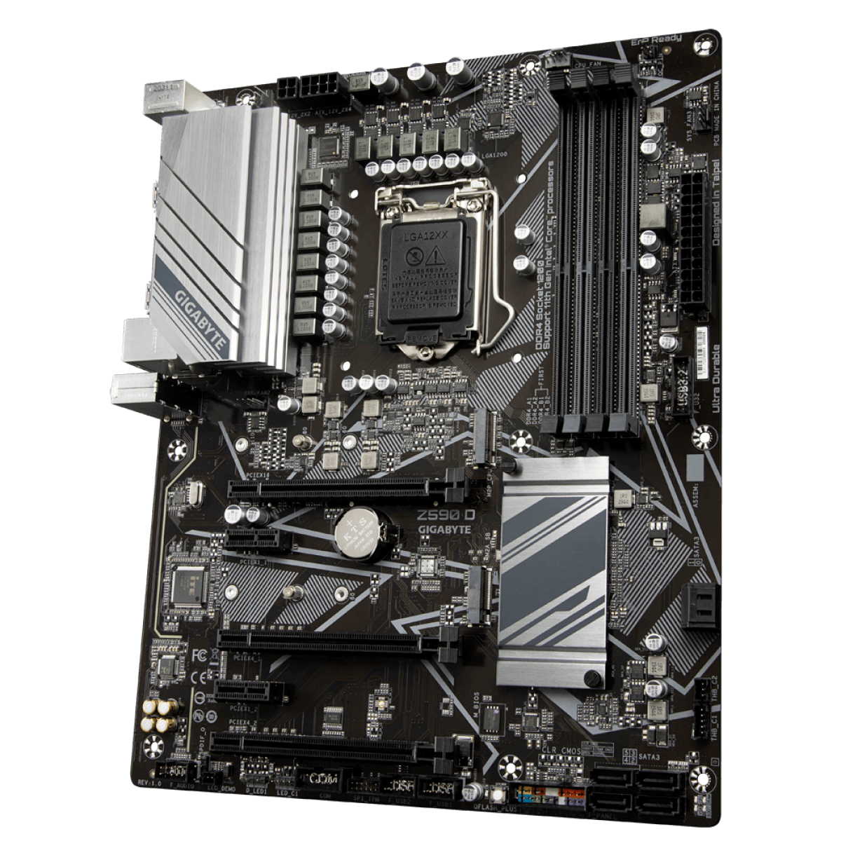 Placa Mãe GIGABYTE Z590 D (rev. 1.0), Intel Z590 Express Chipset, Socket 1200, ATX, DDR4