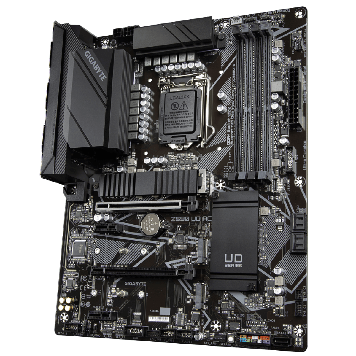 Placa Mãe GIGABYTE Z590 UD AC, Intel Z590 Express Chipset, Socket 1200, ATX, DDR4