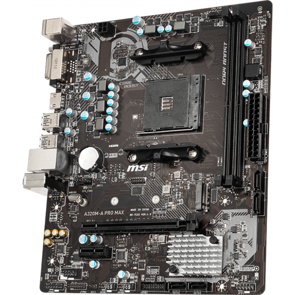 Placa Mãe MSI A320M-A Pro Max, Chipset A320, AMD AM4, mATX, DDR4 - Open Box