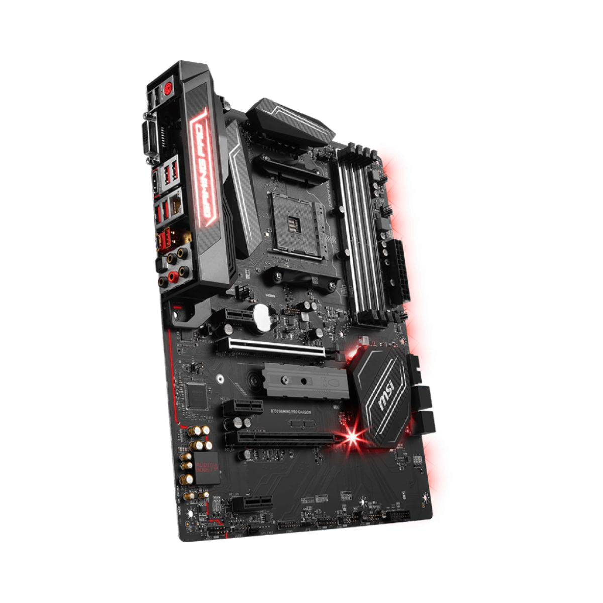Placa Mãe MSI B350 Gaming PRO Carbon, Chipset B350, AMD AM4, ATX, DDR4
