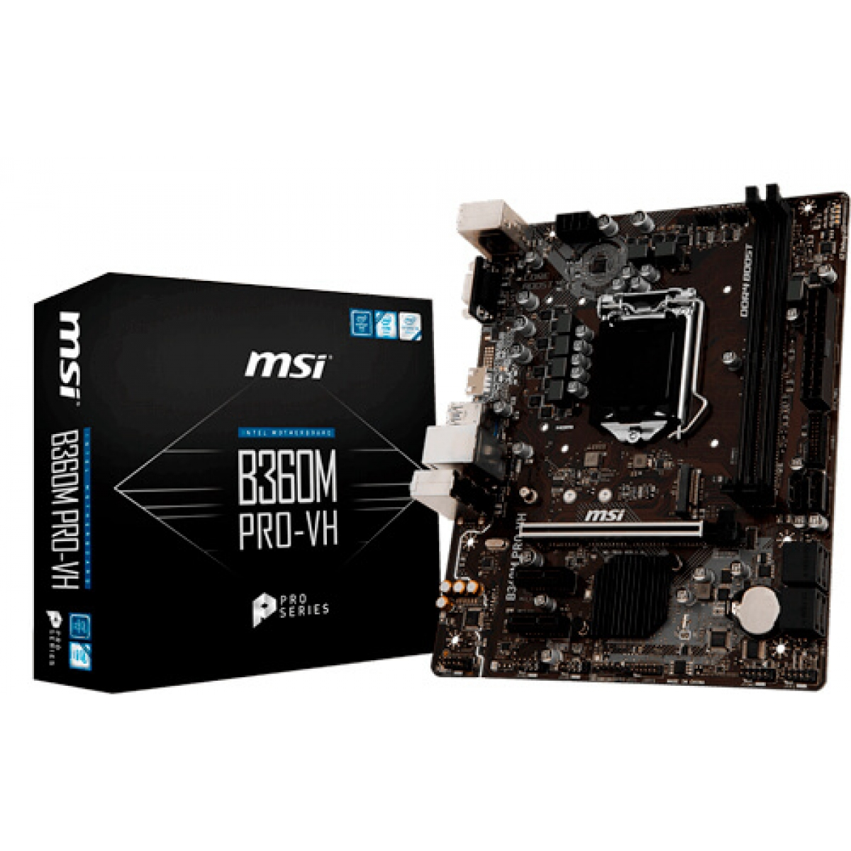 Placa Mãe MSI B360M PRO-VH, Chipset B360, Intel LGA 1151, mATX ,DDR4